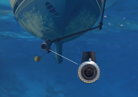 Underwater inspection system with camara and LED lights